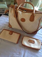 VTG GUCCI Doctor Boston Satchel Bag With Matching Wallet and Small Case