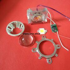 10W Warm White 3000-3500K High Power LED+10W Driver+44mm Lens+10w Heatsink kit