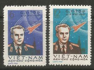 STAMPS-NORTH VIETNAM. 1961. 2nd Manned Space Flight Set. SG: N185/86. Unused.