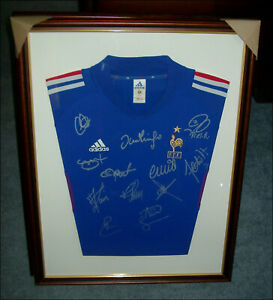 France 2002/03 Shirt Multi-Signed x 12 Past English based French Players RARE
