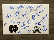 2018 NOTRE DAME football team signed 12x18 photo ~ 22 sigs ~ BOOK ~ WILLIAMS