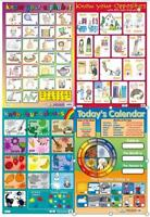 Alphabet / Opposites /  Colours - Early Learning poster  set of 4 Charts