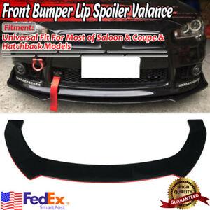 Car Front Bumper Lip Splitter Spoiler RED LINE For Mitsubishi Lancer Eclipse EVO