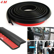 4M Z-Type Car Body Door Rubber Seal Hollow Strip Pad Weatherstrip Sealing Black