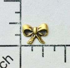 Victorian Bow Nr Jewelry Finding 28973 6 Pc Brass Oxidized Small
