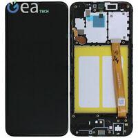 SAMSUNG Service Pack ORIGINALE LCD + Touch Per Galaxy A20e SM-A202 Nero + Frame