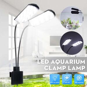 15W LED Waterproof Aquarium Light Fish Tank Aquatic Plants Grow Clip Lamp