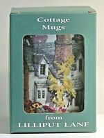 Lilliput Lane ~ COTTAGE MUGS ~ PUFFIN ROW ~ 841 ~  Boxed and New Condition.