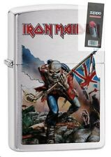Zippo 29432 Iron Maiden Brushed Chrome Finish Full Size Lighter + FLINT PACK