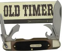 Schrade Old Timer Traditional Scout Pocket Knife Screwdriver Bottle Opener