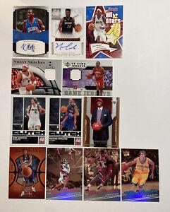 LOT of (12) NBA Cards 2006-13 - RCs/Autos/Game-Worns - Nowitzki, Rip Hamilton...