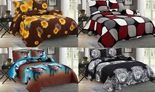 3-Piece New Linen Plus Collection Bedspread Quilt Coverlet Set 3 Colors