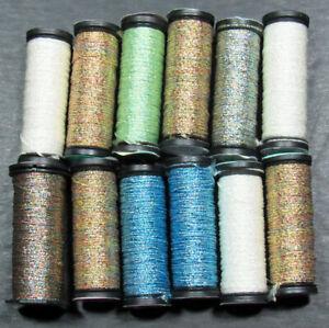 12x Needlepoint/Embroidery THREAD KREINIK 8 Braid metallic-mixed-XW40