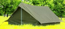 Tent 2 Person - New French military Surplus Item - F1 / Dark Green / 7.60 lb.