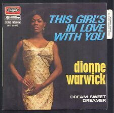 DIONNE WARWICK THIS GIRLS IN LOVE WITH YOU 45T 1969 SP VOGUE 80.173 NEUF MINT+++