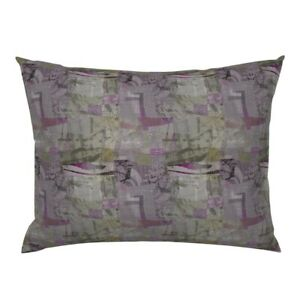 Lavender Purple Collage Abstract Patchwork Muted Purples Pillow Sham by Roostery