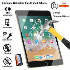"""2 Pack Tempered Glass Screen Protector For iPad 10.2"""" (2020) Air-3 Mini 5 (2019)"""