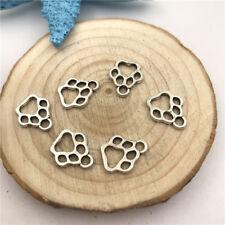 20pcs Jewellery Making Dog Paw Charms Pendant Tibetan Silver 13x11mm