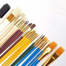 25 x Artists Paint Brushes Set Foam Dabbers Brush Acrylic Oil Watercolour Kit