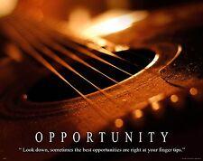 Musical Instruments Motivational Poster Art Print Guitar Band Sheet Music MVP174