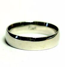 14k white gold men's comfort fit wedding band ring 5.6g gents 6mm