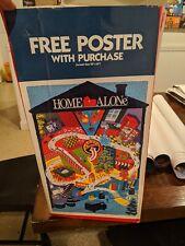 Home Alone Original Poster Burglar Trap Map VHS Vintage Fox Movie 90s RARE