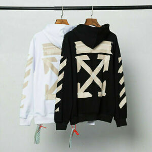 Off White Unisex hoodies cherry blossoms streetwear jumper sweatshirt activewear