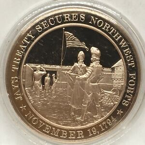 Franklin Mint American History series~1794 Jay's Treaty Secures Northwest Forts