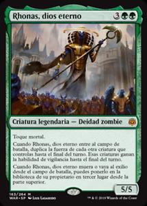 Rhonas, dios eterno - NO FOIL -  War of the Spark - NUEVO/MINT - MTG - 163 - X1