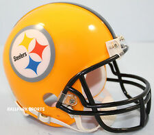 PITTSBURGH STEELERS (75th Anv Gold Alternate) Riddell VSR4 Mini Helmet