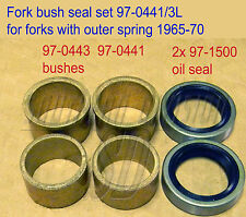 TRIUMPH FORK Bush Kit 97-0441 97-0443 with 97-1500 Seal h441 h443 1965-70/74