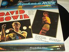 """DAVID BOWIE - LA GRANDE STORIA DEL ROCK 12"""" LP"""