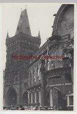 (f6768) ORIG. photo prague, praha, pulverturm u. mairie 1936