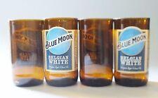 Glasses cut from Blue Moon Beer Bottles, set of 4 Guy Mug