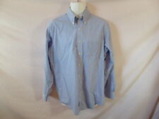 Men's BROOKS BROTHERS Blue Striped Dress Shirt - Sz 15 1/2  -34