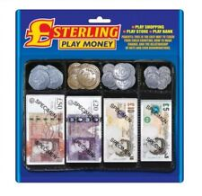 2 X Pretend Sterling Money Play Set Notes Coins Supermarket Bank Shopping Count