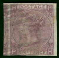 GB QV Stamp SG.96 var 6d ERROR IMPERFORATE (1865) VFU SG.Spec J73t V.Rare* RED17