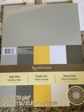 "Recollections High Rise Cardstock Pack 8.5"" x 11"" 50 pk New"