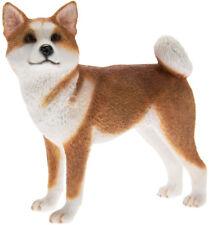 More details for fine quality tan and white akita dog ornament/figurine.leonardo.gift boxed
