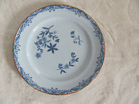 Rorstrand Ostindia Sweden- Blue Flowers - Large Bread & Butter Plate(s)- 3 Avail