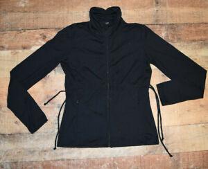 Prana Womens Size Medium Black Polyester Stretch Full Zip Athletic Yoga Jacket
