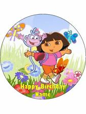DORA THE EXPLORER 19cm Edible Icing Image Birthday Cake Topper Decoration #1