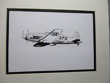 Italian Macchi C 202 fighter  artist pen ink drawing 1964 New York Worlds Fair
