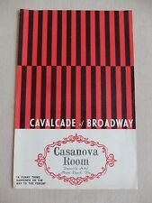 1960's - Casanova Room Playbill - A Funny Thing Happened On The Way To The Forum