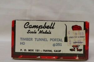 Campbell HO Kit no 351. Timber Tunnel Portal  set of 2,NOS,  Estate Find