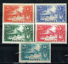 Gunea French Colonoial scenes 5 stamps set 1950 MLH
