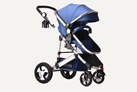 2 in 1 Newborn Baby Pram Pushchair Travel System Buggy Stroller TOMiKID