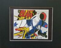 "Roy Lichtenstein ""Blam"" Matted off-set Color Lithograph 1983"