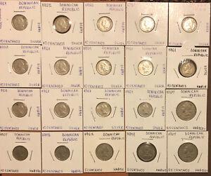 1951-1979 DOMINICAN REPUBLIC Liberty  Coins-5,10,25 Centavos-14 Silver+8 Cu.Ni