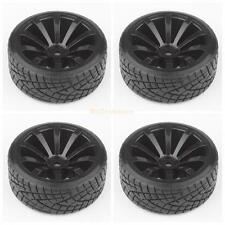 4pcs RC Car Tires Tyre & Wheels 10-Spoke Black for HSP HPI 1/10 Scale Drift Car